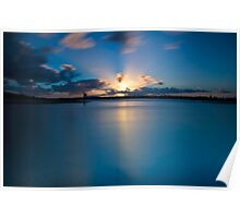 As The Sun Goes Down on Smiths Lake Poster
