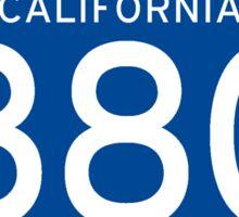 Interstate Sign 880 California, USA Sticker
