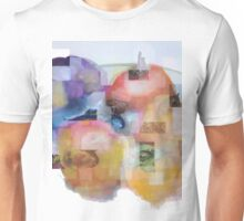 Still life - Some pomegranates, persimmons, pears, grapes on the plate Unisex T-Shirt