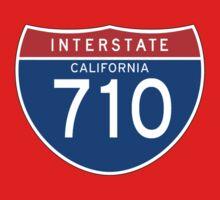 Interstate Sign 710 California, USA Kids Tee