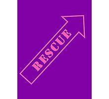 FIGHTER RESCUE - Sassy Purple Photographic Print
