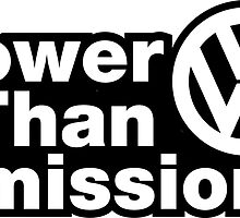Lower Than Emissions. Funny VW by lolotees