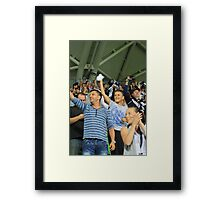 Victorious Sports Fans Framed Print