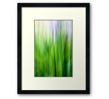 Leaves Abstract Wall Art Framed Print