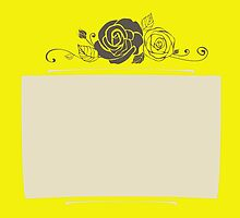 Rose Design color Buttercup by gallerybelle