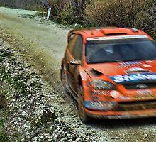 Blurry Race Car by Andreas Karpasitis
