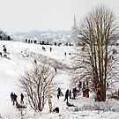 Mousehold Heath Sledging by Nicholas Jermy