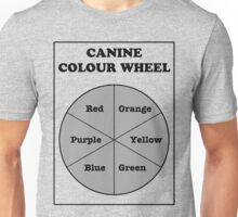 Canine Colour Wheel Unisex T-Shirt