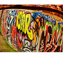 Fisheye Graffiti Photographic Print