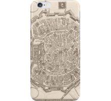 Milan Old Map iPhone Case/Skin