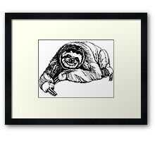 Happy sloth Framed Print