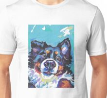 Bernese Mountain Dog Bright colorful pop dog art Unisex T-Shirt