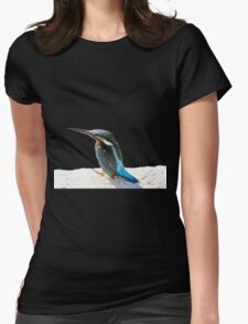 A Beautiful Kingfisher Bird Vector Womens Fitted T-Shirt