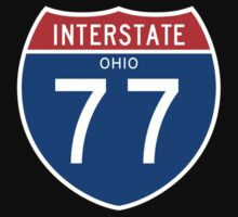 Interstate Sign 77 Ohio, USA One Piece - Long Sleeve