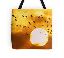 Sunrise Brent Flock Tote Bag