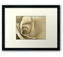 Gold Coloured Romantic Floral Wall Art Framed Print