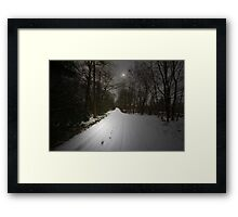 JUST A BEAUTIFUL SNOW SCENE Framed Print