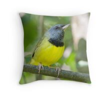A Male Mourning Warbler Throw Pillow