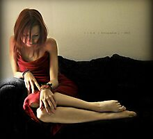 {Girl in Red} by Luis Carlos Lira Monges