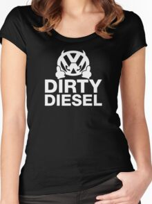Dirty Diesel, Funny VW Women's Fitted Scoop T-Shirt