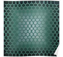 Green Hexagons Poster