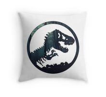 Jurassic Forest Throw Pillow