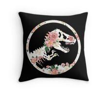 Jurassic Floral Throw Pillow