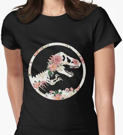 Jurassic Floral Womens Fitted T-Shirt