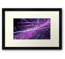 Violet scratch abstract background with bokeh.  Framed Print
