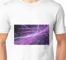 Violet scratch abstract background with bokeh.  Unisex T-Shirt