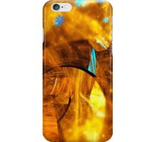 abstract yellow swirl background glossy blue iPhone Case/Skin