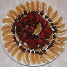 Oranges and strawberries with chocolate touch by Ilan Cohen