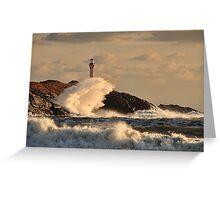 Wave Crashing at Cape Forchu Greeting Card