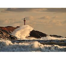 Wave Crashing at Cape Forchu Photographic Print