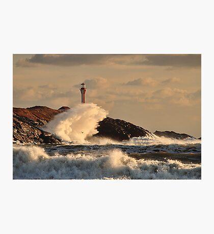 Wave Crashing at Cape Forchu Photographic Print