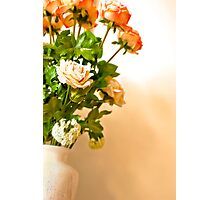 Roses in a vase Photographic Print