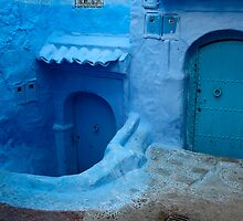 blue doors in Chefchaouen,Morocco by milena boeva