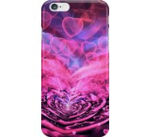 Valentine Hearts Background. Valentines Pink Abstract Wallpaper. Backdrop Collage iPhone Case/Skin