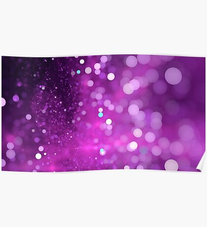 Abstract violet bokeh sparkling spray circle Poster