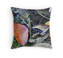 Leaves by Laura Lawrence Throw Pillow