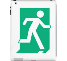 Running Man Exit Sign, Right Hand iPad Case/Skin