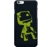 Little Big Planet Sackboy Green on Black iPhone Case iPhone Case/Skin
