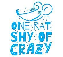One RAT shy of CRAZY Photographic Print