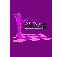 YOUR MOVE - Purple Photographic Print