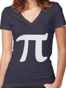 Pi symbol for Pi day Women's Fitted V-Neck T-Shirt