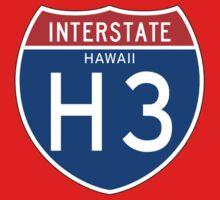 Interstate Sign H3 Hawaii, USA One Piece - Short Sleeve