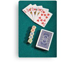 Poker Canvas Print