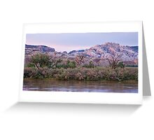 Split Mountain Twilight Greeting Card