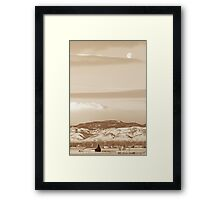 County Colorado Country Moon Framed Print