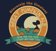 It's the Great Pumpkin Ale Charlie Brown T-Shirt